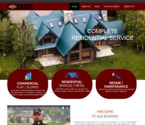 Ace Roofing Website Screenshot